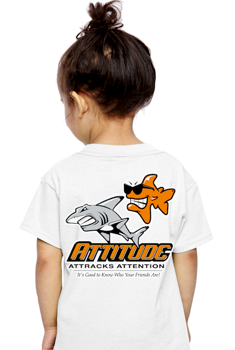 Attitude attracts attention kids cartoon t shirts - Bob the Fish