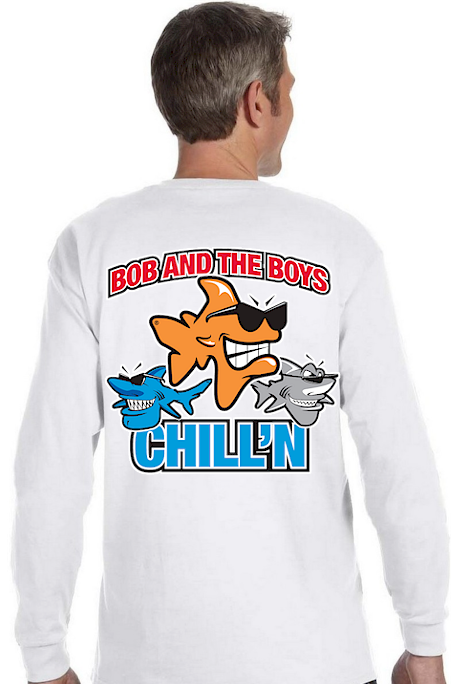 Men's long sleeve T shirts It's all who you hang with - Bob the Fish