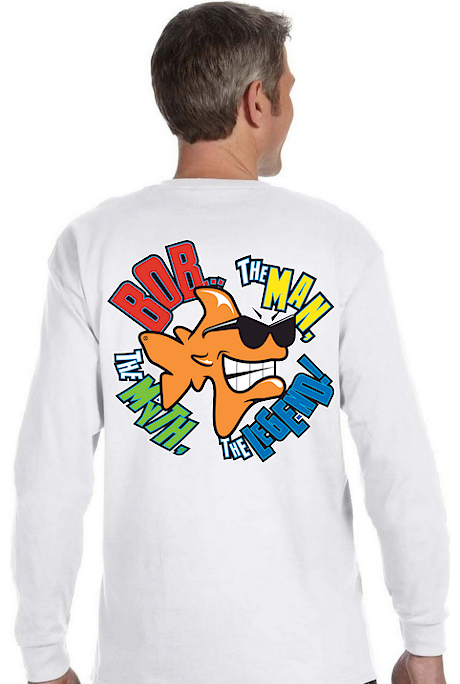 Bob the Fish, Jim the Shark & John the Shark men's long sleeves T shirts