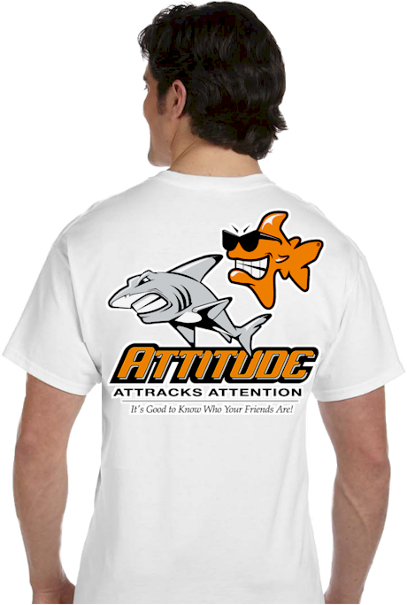 Unique T shirts | Attitude attracts attention Tee | mens T shirt