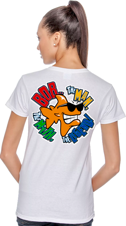 Bob...The Man, The Myth, The legend! ladies cool tee shirts - Bob the Fish