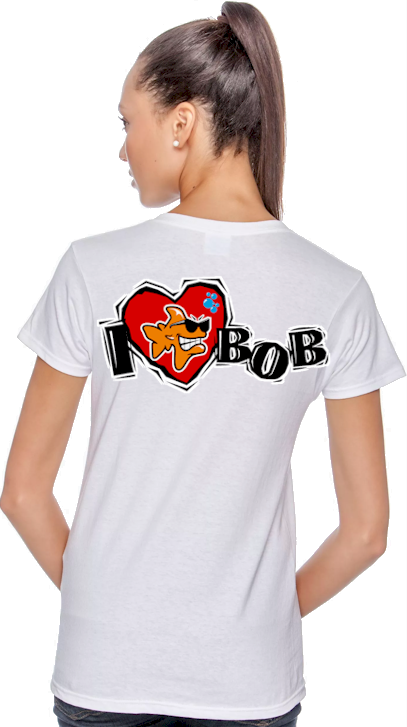 I love Bob ladies logo t shirts - Bob the Fish