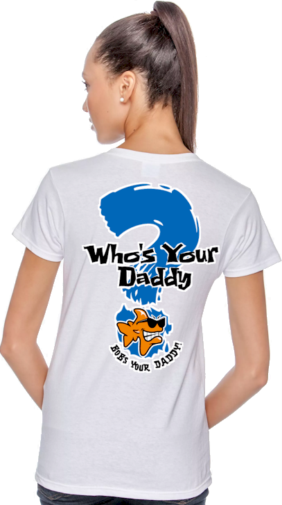Who's your daddy? Bob's your daddy! ladies t shirts uk - Bob the Fish