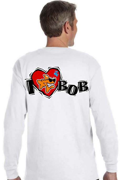 I love Bob men`s long sleeve tees - Bob the Fish