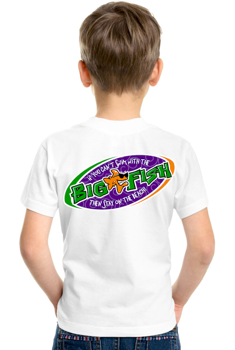 If you can`t swim with the big fish… kids shirt design - Bob the Fish