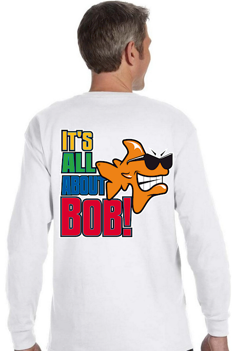 It's all about Bob! men's cotton long sleeve - Bob the Fish