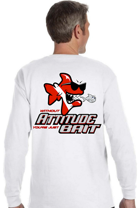 Without attitude you`re just bait men`s dive long sleeve shirt - Bob the Fish