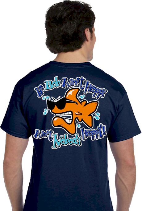 Bob the Fish, Jim the Shark & John the Shark men's T shirts