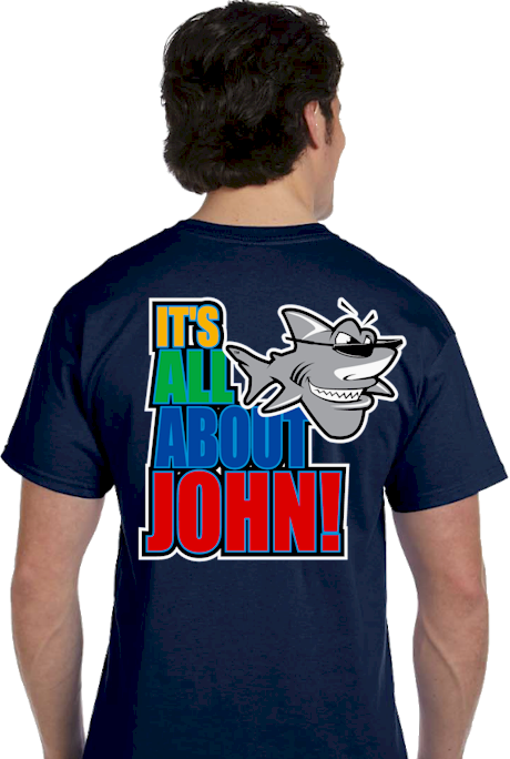 Comic T shirts | It's all about John! Tee | mens T shirt