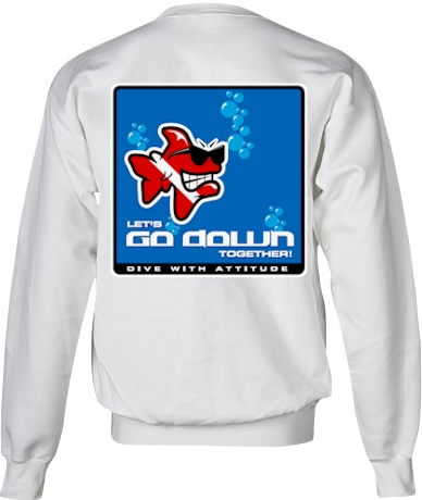 Let's go down together ladies dive pullover sweatshirt - Bob the Fish