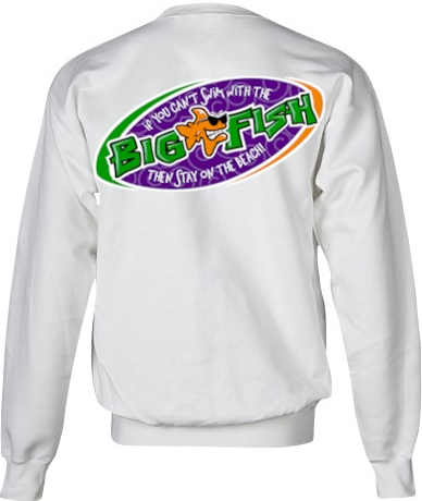 If you can't swim with the big fish… ladies jerzees sweatshirts - Bob the Fish