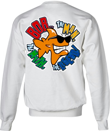Bob...The Man, The Myth, The legend! ladies gildan sweatshirts - Bob the Fish