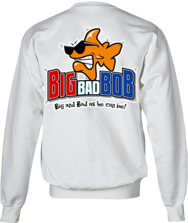 Big bad Bob men's zip up sweatshirts - Bob the Fish