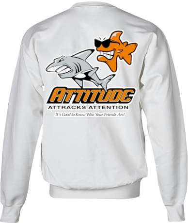Attitude attracts attention ladies sweatshirts for women - Bob the Fish