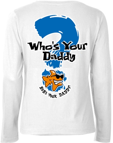 Who's your daddy? Bob's your daddy! ladies long sleeve polo - Bob the Fish