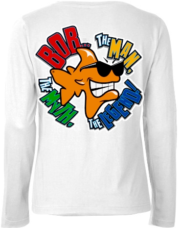 Bob...The Man, The Myth, The legend! ladies long sleeve tops - Bob the Fish
