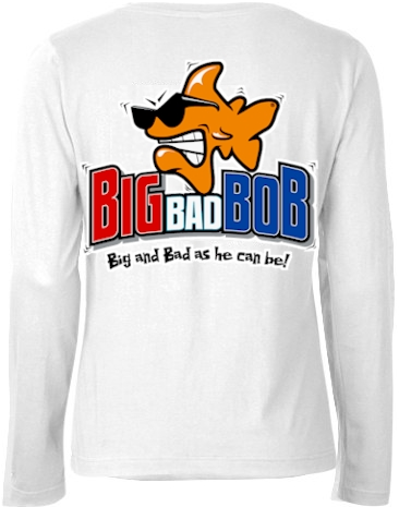Big bad Bob ladies long sleeve polo shirts - Bob the Fish