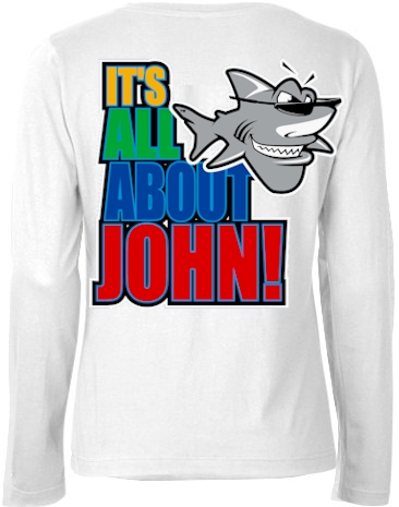 It's all about John! ladies long sleeve thermal - John the Shark
