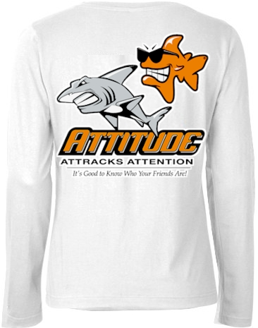 Attitude attracts attention ladies long sleeve thermal shirts - Bob the Fish