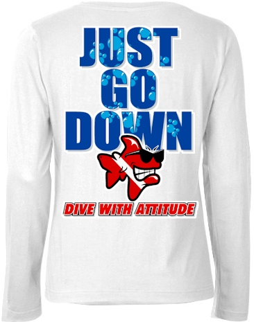 Just go down ladies dive long sleeve - Bob the Fish