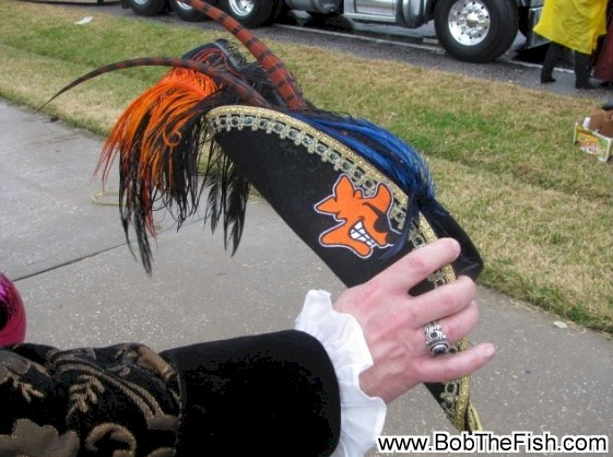 It's Bob the Fish on a pirates hat for the 2010 Gasparilla Day Parade! Go Bob (Bud)!