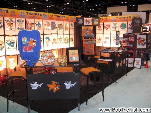 Bob the Fish Surf Expo booth, Orlando Florida January 2010. Looking good! Feeling good!