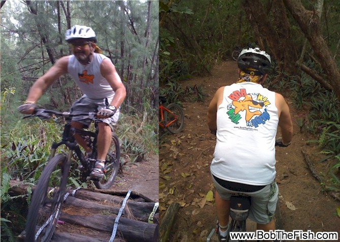WooHoo! Here's you some pix of Bob hitting the Oleta trails.