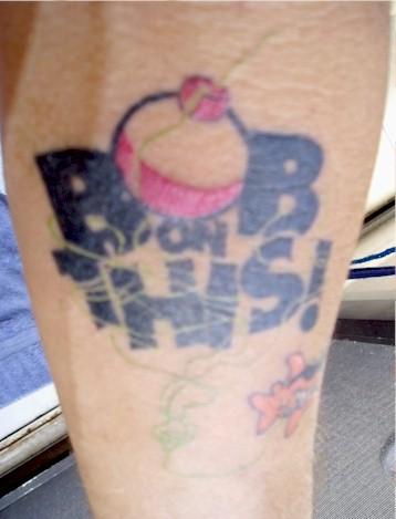 Bob's forearm tattoo from VIP Yacht Charters St. Thomas, VI