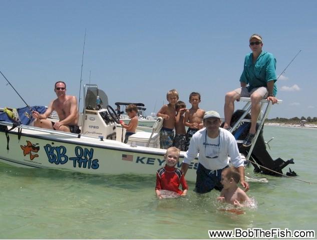 Bob The Fish boat and fishing crew. GO TEAM BOB THE FISH!