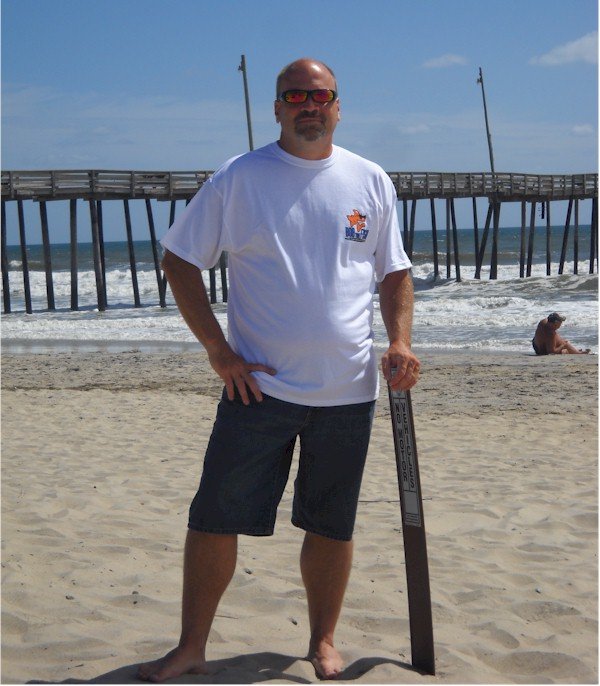 Bob Fish in a Bob the Fish shirt. Standing near the fishing pier in Rodanthe at the Outer Banks, NC. Bob Fish is my birth given name and I enjoy wearing your shirts. I get many comments and laughs from others that know me.