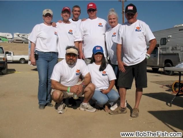 Team Bob the Fish racing.