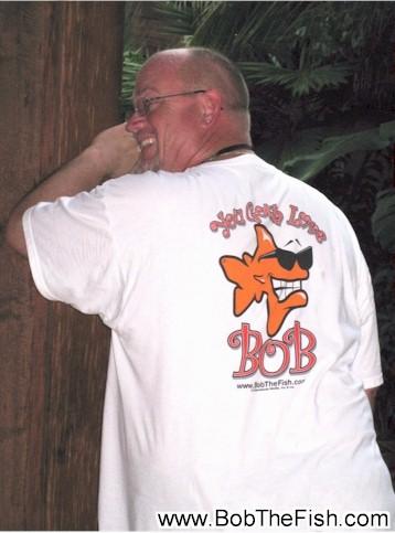 This is Bob at Paradise Island, Bahamas. I won't go anywhere without him.