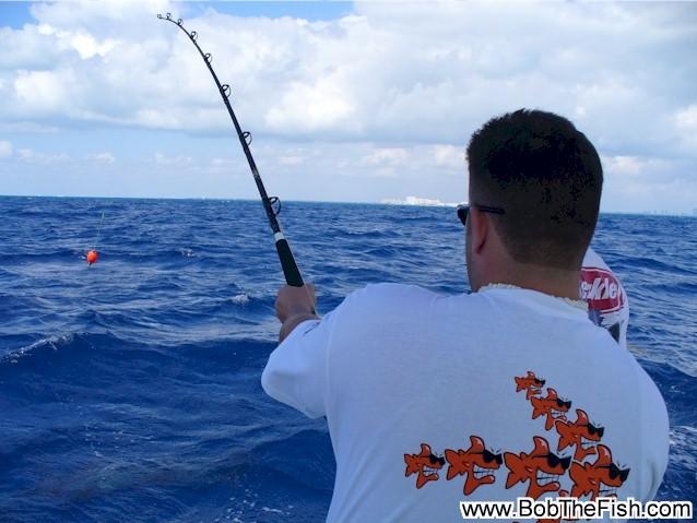 Bob's 50th birthday fishing trip! Miami, FL. Hooked up!