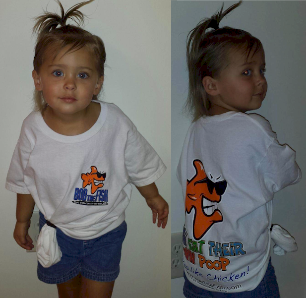 Lil Juliana is our NEWEST Bob the Fish model.  Look for our kids designs coming soon!