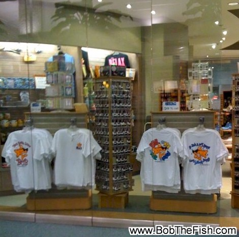 Another Bob the Fish window display in the Tampa International airport. Thanks Collette!