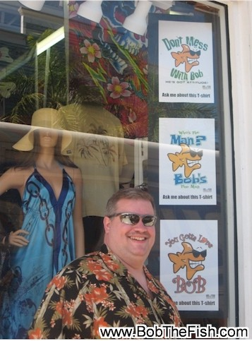 This is BOB right before he buys his shirt in Key West Florida. Cause you got to love BOB. Thanks so much its really a cool shirt. Bob Nichols Philo, IL