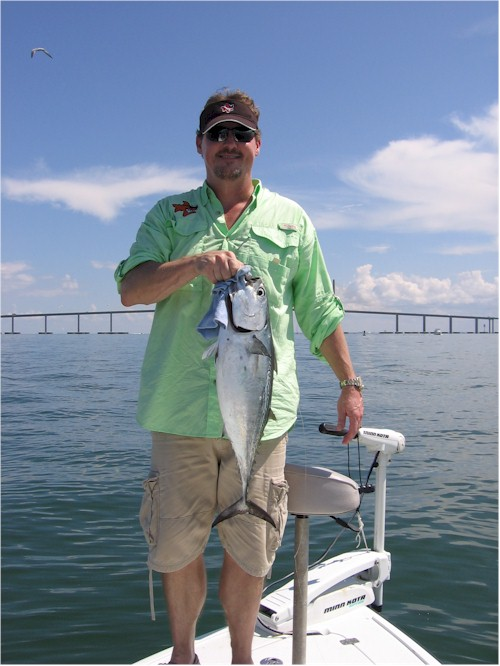 Here's the original Bob the Fish with a Bonita caught off the Skyway bridge in St. Petersburg Florida.  Bob the Fish is a sponsor of the 11th Annual SPYC Fishing Tournament.