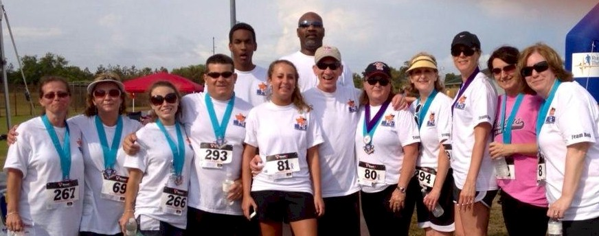 """Team Bob"" looked great in The Relay for Life 3rd Annual Cupcake 5k race in Kill Devil Hills, NC."