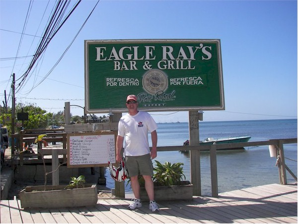 Eagle Ray's Bar in West Bay.