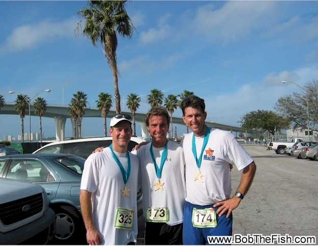 Jim wore it at his 1/2 marathon on Saturday down at clearwater beach