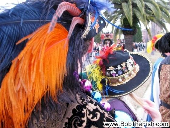 It's Bob (Bud) in his Ye Mystic Krewe of Santa Margarita pirate garb for the 2010 Gasparilla Day Parade.